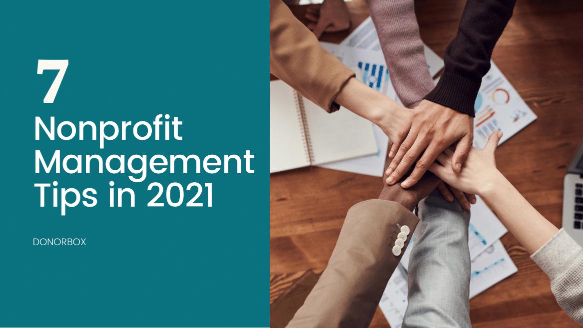 nonprofit management tips