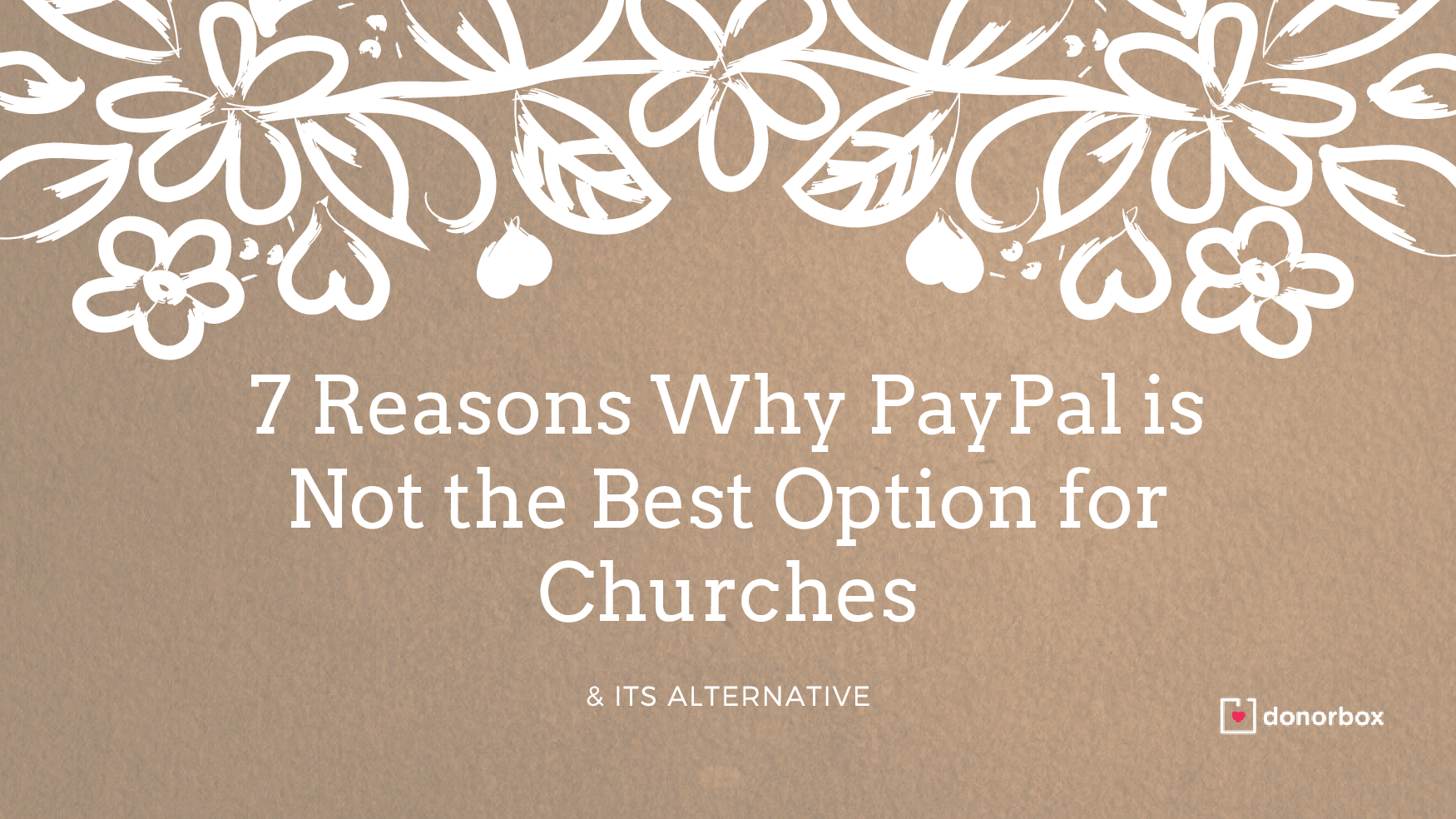 why donorbox is better than paypal for churches