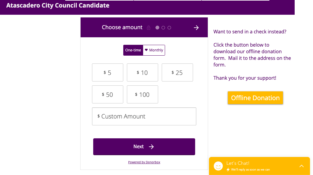 wix donation form