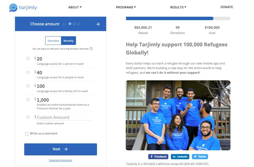 nonprofit online fundraising