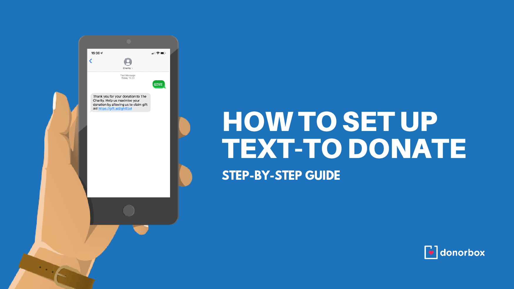 how to set up text to donate