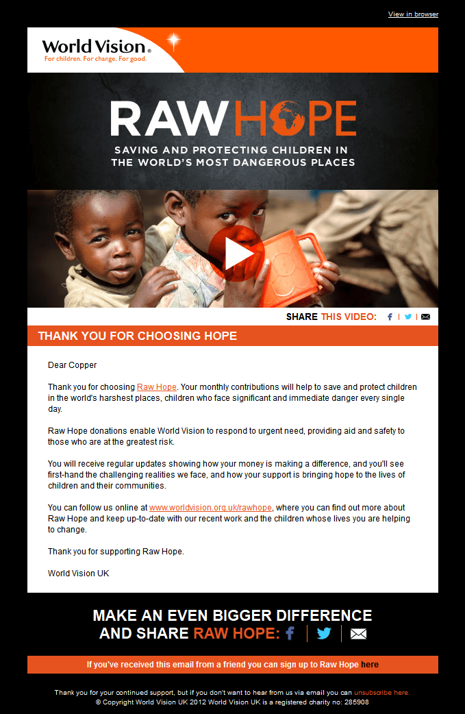 thank you letter for donations
