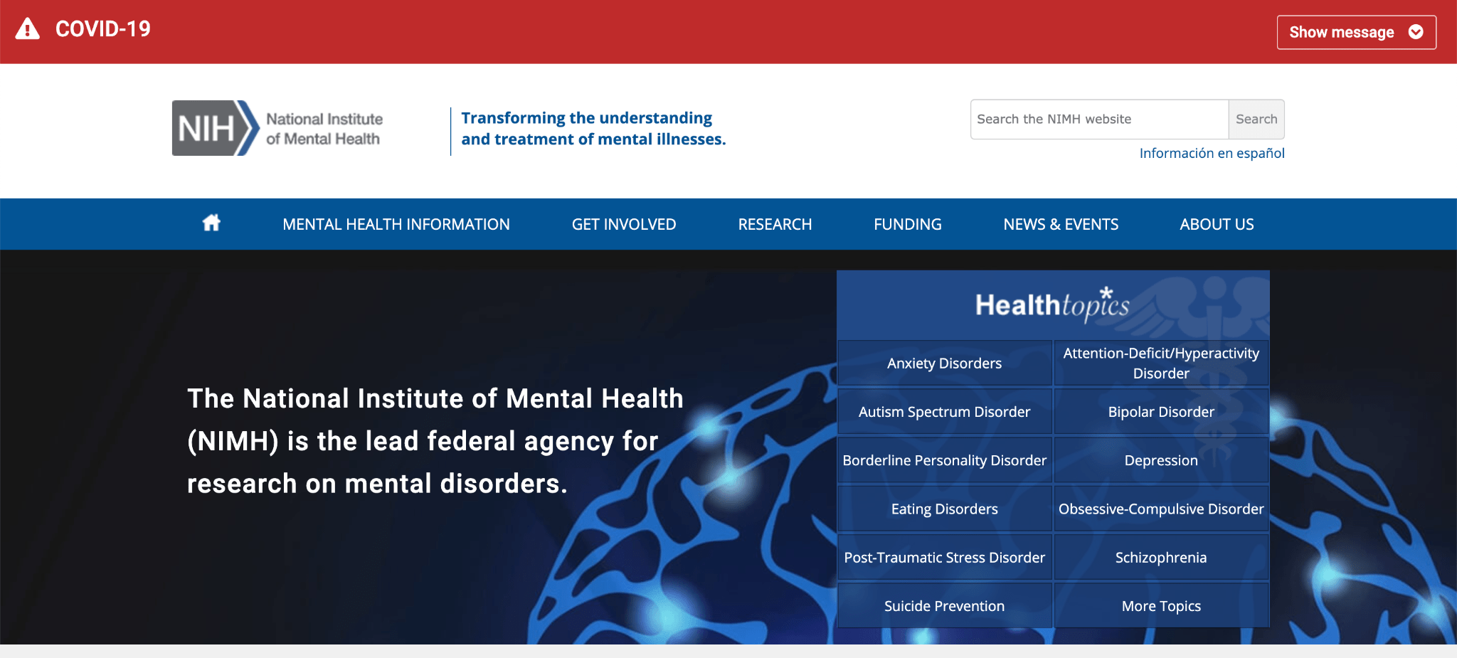 top mental health charities