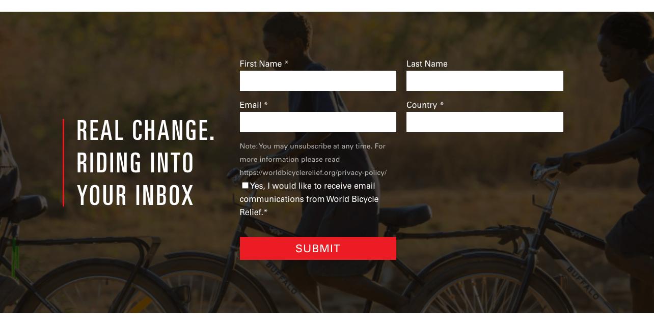 nonprofit website copy