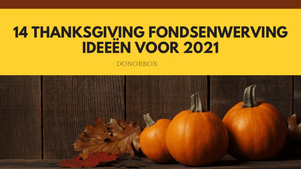 thanksgiving fondsenwerving