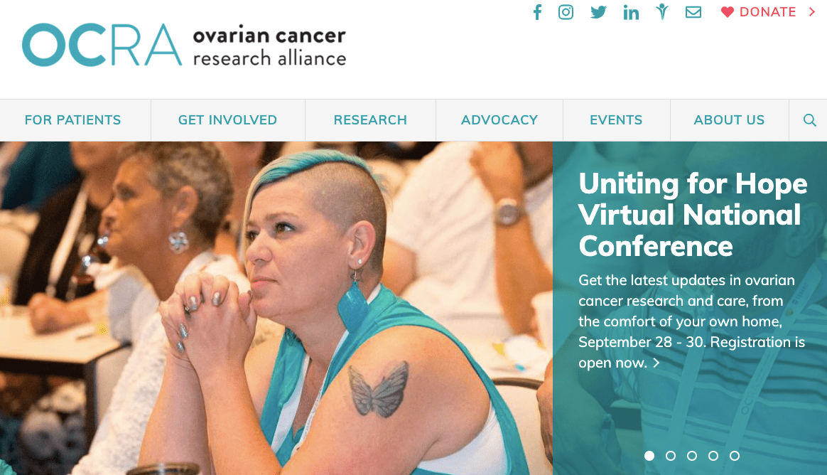 leading cancer charities and organizations