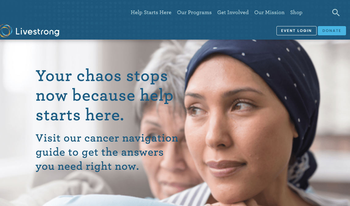 list of cancer charities