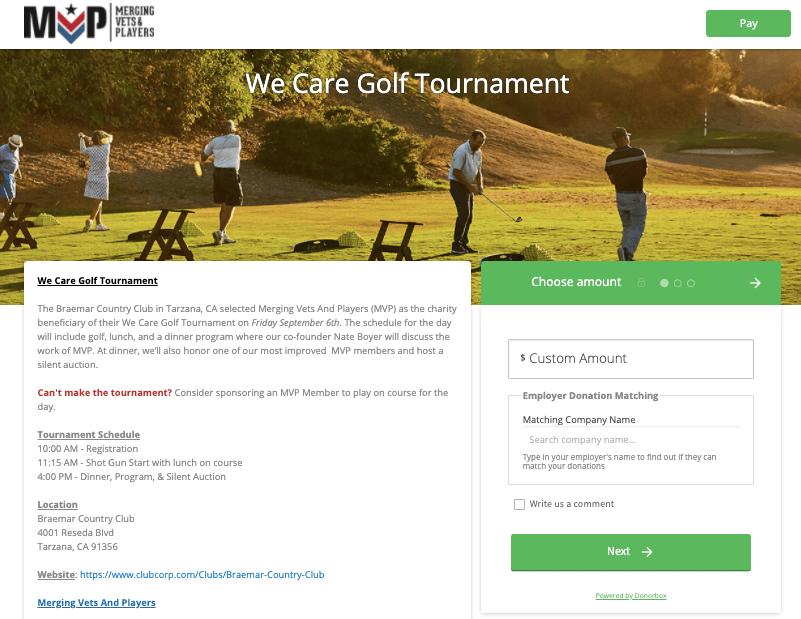 golf tournament fundraising