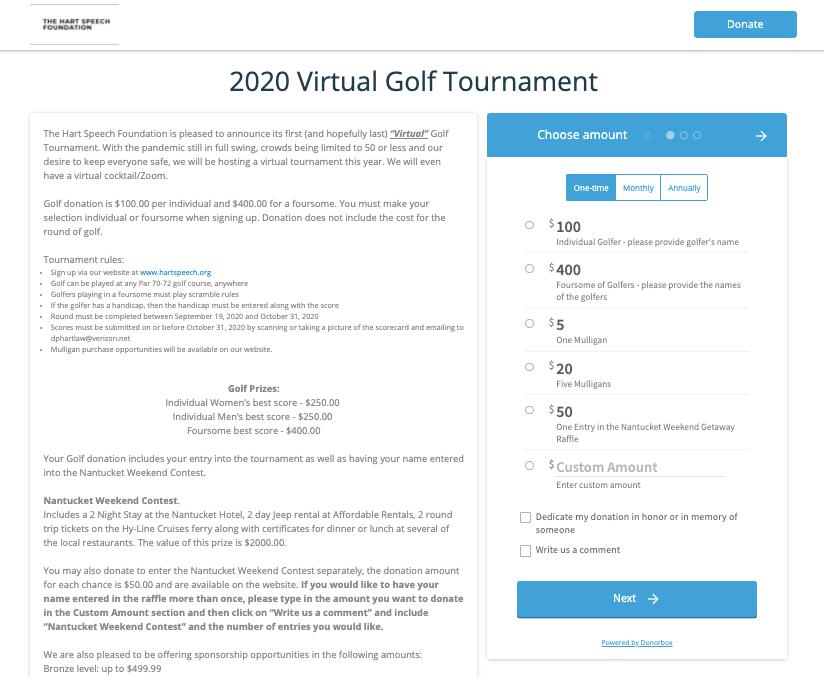 golf tournament fundraiser ideas