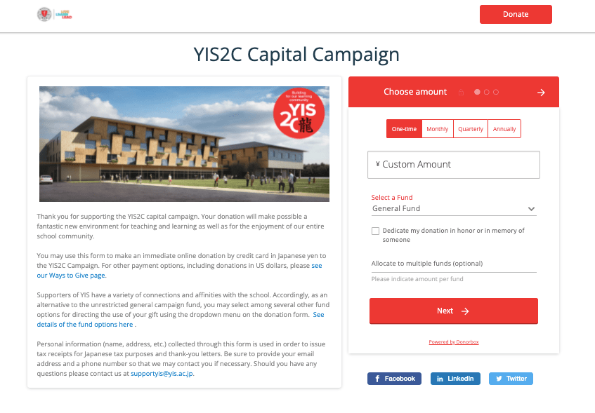 capital campaign examples